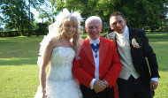 Toastmaster Mike with Beccy & Simon