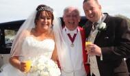 Mike with Lorraine & John