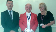 Toastmaster Mike with the Registrars